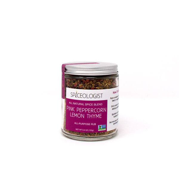 Pink Peppercorn Lemon Thyme Rub - The Happy Olive